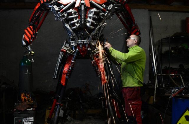 Pan Sebastian i robot - Fabryka robotów Moszna