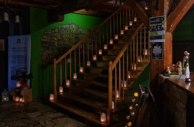 zamkowy młyn - schody