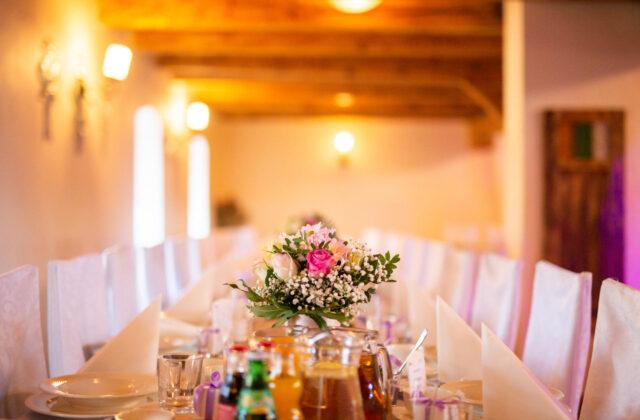 sala weselna styl minimalistyczny