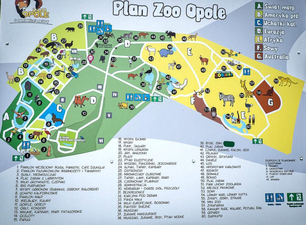 mapa zoo Opole